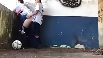Two young Soccer players fuck after their game