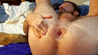 stuffing and sharing my hairy pussy