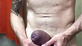 Cbt on roped pumped cock