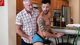 Filthy old man seduces and pounds his y. grandson