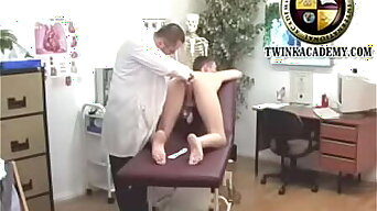 Young British lad has his first anal exam from a doctor