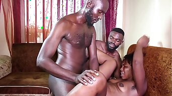 Nigeria hot verge on Fuck . Big ass in front of two Big Dick