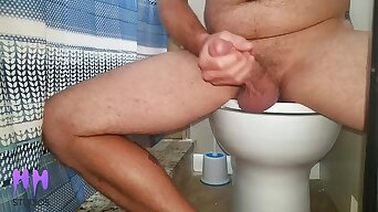 Step Bro Cums In The Bathroom  While Sis Masturbates in The Shower (Preview)