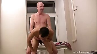 Daddy fucks lonely twink